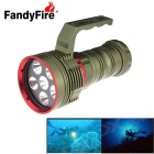 Fandyfire XM-L2 U2 6-LED 5800lm 3-Mode lanterna de mergulho branco legal