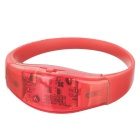 Sports Armband / Leg Band Silicone Warning Light Bracelet - Red