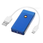 MAIKOU MK-001 USB Rechargeable Electronic Cigarette Lighter - Blue