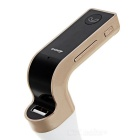 BT Car FM Transmitter Player w/ Charger, USB 3.1 Cable - White + Gold