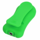 Outdoor Dustproof Waterproof Touch-Tone Back Clip-on 3.5mm MP3 Player w/ 4GB Memory / FM - Green