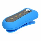 Outdoor Dustproof Waterproof Touch-Tone Back Clip-on 3.5mm MP3 Player w/ 4GB Memory / FM - Blue