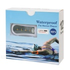 Outdoor Dustproof Waterproof Touch-Tone Back Clip-on 3.5mm MP3 Player w/ 4GB Memory / FM - White