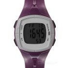 Outdoor Professional Chest Strap Heart Rate Meter w/ Alarm Function - Purple + White