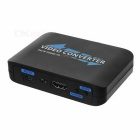 AV/S-Video & Composite to HDMI Video Converter w/ RCA - Black + White