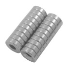 10*3-4MM Round Hole Style NdFeB Magnet - Silver (20PCS)
