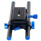 YELANGU 15mm Rail Rod Baseplate for Canon DSLR Follow Focus Rig 5D2 5D3 7D 5D