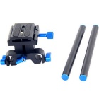 YELANGU 15mm Rail Rod Baseplate for Canon Follow Focus Rig 5D2 5D3