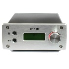 "YF-15B 0~15W 1.5"" LCD Adjustable Stereo Audio FM Radio Transmitter - Silver"