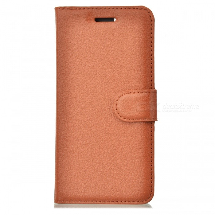 Litchi Grain PU Leather Flip Wallet Case for IPHONE 6 / 6S - Brown