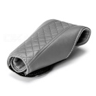 Auto Car Luxury PU Leather Gear Shift Knob Shifter Cover Sleeve Pad Case - Grey