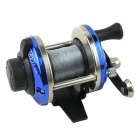 Stainless Steel Casting Fishing Reel w/ Nylon Line - Silver + Blue