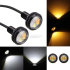 MZ 22.5mm 2W LED Eagle Eyes Car Daytime Running Light / Steering Light White + Yellow 4-5630SMD
