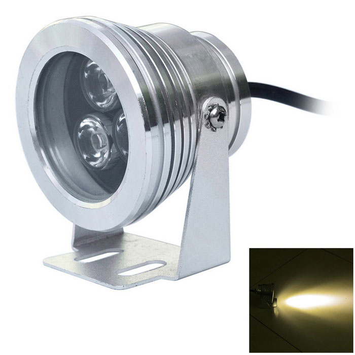 3*3W 720lm 3200K Warm White Light 3-LED Underwater Lamp (AC 85~265V)