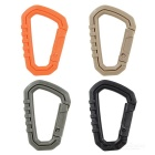 Outdoor Cycling Travel Backpack Accessories Carabiners - Black + Khaki + Orange + Green (4PCS)