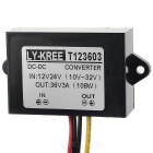 108W DC 12/24V to DC 36V 3A Power Converter for Car GPS, More - Black