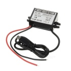15W DC 12/24/36/48V to DC 5V 3A Voltage Step Down Power Converter w/ Mini USB 5Pin Output - Black