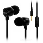 KEEKA 3.5mm Wired In-Ear Earphone Headphone - Black + Silver Grey