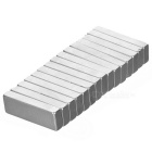 F30*10*4mm Rectangular NdFeB Magnet - Silver (15PCS)