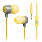 KEEKA 3.5mm Wired In-Ear Earphone Headphone - Black + Yellow Green