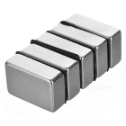 F30*20*10mm Rectangular NdFeB Magnet - Silver (5PCS)