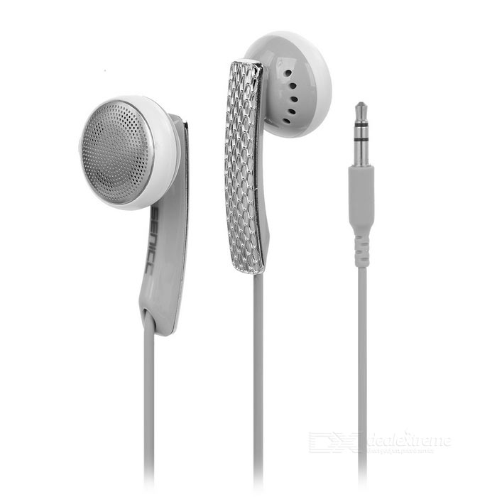 SENICC Universal In-Ear 3.5mm Wired Earphones - Black + Silver