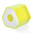 Mini Anti-Lost Subwoofer Bluetooth Speaker w/ Selfie Function - Yellow + White
