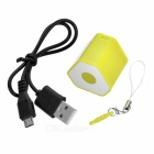 Mini Anti-Lost Subwoofer Bluetooth Speaker w/ Selfie - Yellow + White