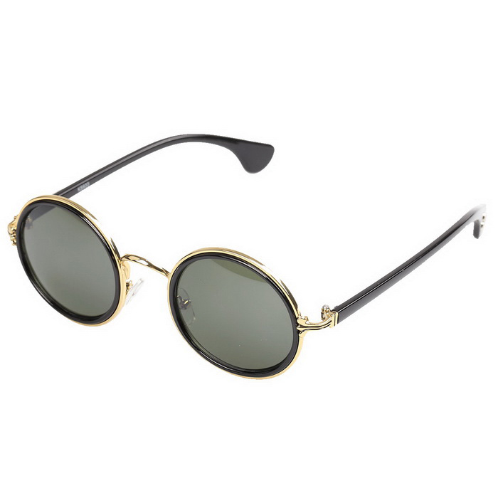 Men's UV400 Protection High Nickel Alloy Sunglasses - Black + Gold