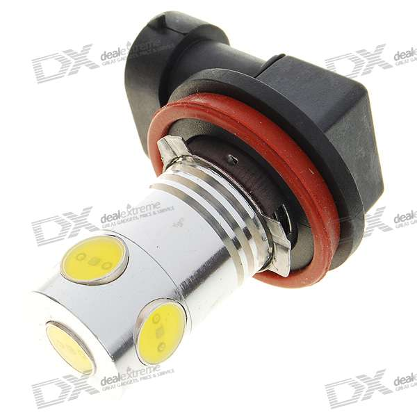 H11/H8 5W 5-LED Car White Light Bulb (DC 12V)