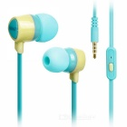 KEEKA 3.5mm Wired In-Ear Earphone Headphone - Blue + Yellow