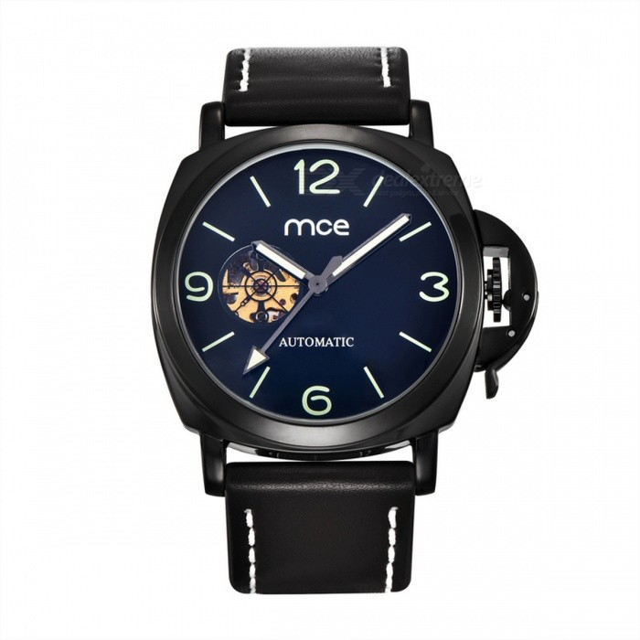 MCE Unisex Fashionable PU Band Self-Winding Mechanical Watch - BlackMechanical Watches<br>Form  ColorBlackModel01-0060338Quantity1 DX.PCM.Model.AttributeModel.UnitShade Of ColorBlackCasing MaterialAlloyWristband MaterialPUSuitable forAdultsGenderUnisexStyleWrist WatchTypeFashion watchesDisplayAnalogBacklightNoMovementMechanicalDisplay Format12 hour formatWater ResistantFor daily wear. Suitable for everyday use. Wearable while water is being splashed but not under any pressure.Dial Diameter4.4 DX.PCM.Model.AttributeModel.UnitDial Thickness1.5 DX.PCM.Model.AttributeModel.UnitWristband Length25 DX.PCM.Model.AttributeModel.UnitBand Width2.4 DX.PCM.Model.AttributeModel.UnitBatteryNoPacking List1 x Watch<br>