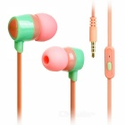 KEEKA 3.5mm Wired In-Ear Earphone Headphone - Pink + Green + Multi-Color