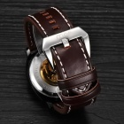 MCE Fashionable PU Band Self-Winding Mechanical Watch - Brown + Black