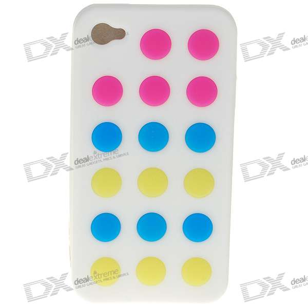 Protective Silicone Case for Iphone 4 (White)