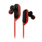 BH-M62 Bluetooth In-Ear Earphone w/ TTS Voice Prompt, Mic - Black +Red
