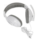 ST-2628N 3.5mm Wired Headband Headphone w/ Single Mic. - White + Grey