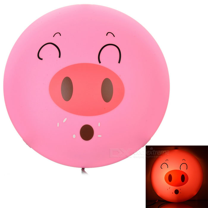 DIY Pig Style 25W Warm White Decorative Wall Light - Pink + Green