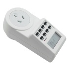 Electronic Plug-in Programmable Timer 12/24 Hour Switch Socket - White
