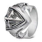 Xinguang Men's Fashion Punk Style Cross Ring - Silver (US Size 9)