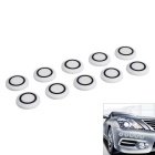 Car Bumper Anti-Scratch Radar Probe Shape Rubber Cap - White (10PCS)