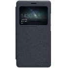 NILLKIN Protective PU Leather Flip-Open Case w/ Visual Window Smart Sleep for HUAWEI MATE S - Black