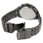 CURREN Men's Stainless Steel Waterproof Quartz Analog Watch - Black