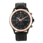 CURREN Men's Fashion Casual 3 Decorative Sub-dials Leather Strap Waterproof Quartz Analog Watch