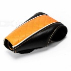 Auto Car Luxury PU Leather Gear Shift Knob Shifter Cover Sleeve Pad Case - Black + Orange