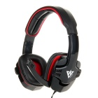 VYKON ME333 Professional Gaming USB Computer Headphone w/ Mic / Volume Control - Black + Red