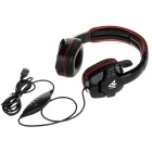VYKON ME333 Gaming USB Headphone w/ Mic, Volume Control - Black + Red