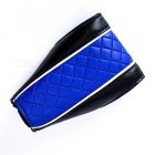 Car PU Gear Shift Knob Shifter Cover Sleeve Pad Case - Black + Blue