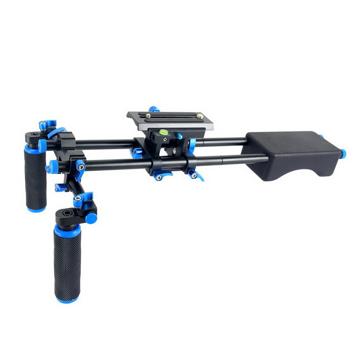 YELANGU YLG0102F Camera Shoulder Mount Kit - Black + Blue