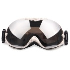 Fashionable TPU Frame PC Lens UV400 Protection Sport Skiing Goggles - White + Grey